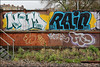 Nom / Rain / Take (Alex Ellison) Tags: nom nomad rain take dds trackside railway southlondon urban graffiti graff boobs