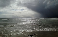 Here Comes The Rain Again (RoystonVasey) Tags: apple iphone 5 northumberland seahouses coast sea sand beach pyramid