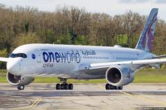 Qatar Airways Airbus A350-941 cn 143 F-WZFO // A7-ALZ (Clément Alloing - CAphotography) Tags: qatar airways airbus a350941 cn 143 fwzfo a7alz toulouse airport aeroport airplane aircraft flight test canon 100400 spotting tls lfbo aeropuerto blagnac aeroplane engine sky ground take off landing 1d mark iv