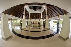 Thailand - Krabi - Dusit Thani Beach Resort Lobby_fisheye_DSC6805 (Darrell Godliman) Tags: thailandkrabidusitthanibeachresortlobbyfisheyedsc6805 lobby interior entrance fisheye 8mm samyang symetry symmetrical