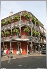 New Orleans French Quarter (uslovig) Tags: new orleans french quarter französisches viertel blumen flowers iron balcony balkon louisiana la usa haus house eisen schmiede pflanzen plants street strase