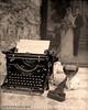 Bad End to a Romance Novel (Gary L. Quay) Tags: bad end romance novel linhof largeformat 4x5 ilford hp5 w2d2pyro monkey wrench underwood typewriter murder wine portrait stilllife gary quay
