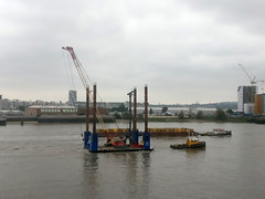 four poster barge (n.a.) Tags: barge tug boat thames river docklands morden wharf greenwich peninsula blackwall reach london