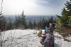 Kodak moment on McDonald Mountain (johnwporter) Tags: hiking snowshoe cascades mountains nationalforest mtbakersnoqualmienationalforest mcdonaldmountain 徒步 雪鞋行 喀斯喀特山脈 山 國家森林 貝克山史諾夸米國家森林 麥當勞山 labrador yellowlab 拉布拉多 黃拉不拉多