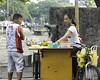 Breakfast (Beegee49) Tags: street vendor hot food man filipina bacolod city philippines