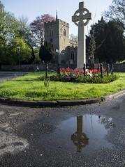 St Peter's & war memorial (badger_beard) Tags: duxford st saint peters peter church war memorial cambridgeshire cambs south cambridge