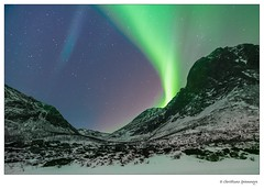 Dream you dream.... (crispin52) Tags: northernlights auroraborealis normwaytromsø landscape snow mountainsky blue green nikon