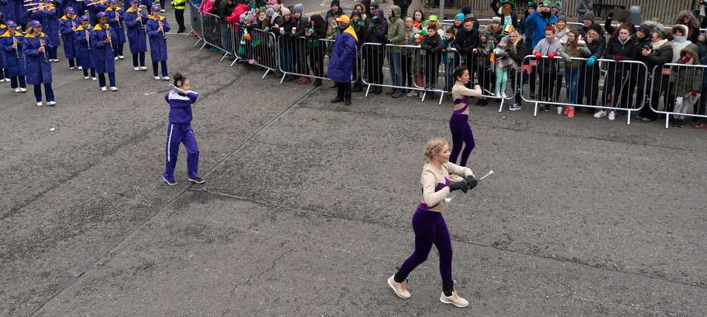 Jackson High School - Purple Army Marching Band [Dublin Patricks Day Parade 2018]-137630