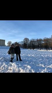 Andrés y su mujer en la Opera y Palacio de Oslo. Frío intenso