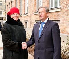 Außenministerin Karin Kneissl trifft slowenischen AußenministerKarl Viktor Erjavec