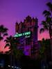 Sunset over the Tower (orlandobrothas) Tags: towerofterror palmtrees thetwilightzone wdw waltdisneyworld disneyshollywoodstudios sunset attraction themepark nikond5300 nikkor