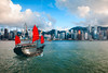 Hong Kong harbour with tourist junk, Hong Kong China (Patrick Foto ;)) Tags: asia background boat building business china chinese city cityscape cruise destination downtown duklingride famous ferry harbor highrise hong hongkong junk kong kowloon landmark location megalopolis modern ocean passenger popular port rise sail sea ship skyline skyscraper structure sunrise territories tourism tower town transportation travel trip urban vessel victoria view water hk