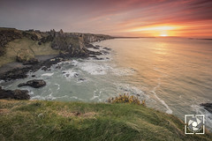 Dunluce Castle (W.G. Photography) Tags: dunlucecastle northernireland sunset longexposure colours sky skyline nature coast line golden beauty