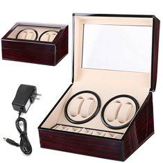 Automatic 4+6 Quad Watch Winder Rotation Display Watch Box (1261702) #Banggood (SuperDeals.BG) Tags: superdeals banggood jewelry watch automatic 46 quad winder rotation display box 1261702