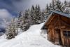 Refuge (khan.Nirrep.Photo) Tags: snow nature nuage montagne chalet bois wood neige canon canon6d canon1635mmf28 bleu blue
