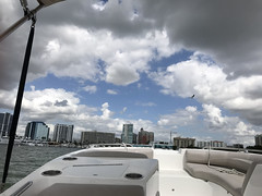 Sarasota Clouds (soniaadammurray - On & Off) Tags: iphone sky clouds skyscape bird architecture boating sea shadows reflections nature martesdenubes martedidinuvole nicewonderfultuesdayclouds boats water