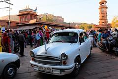 Ambassador car in Jodhpur old city market, Rajasthan, India (CamelKW) Tags: 2018 india rajasthan jodhpur in ambassador car oldcity market