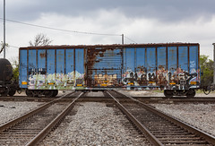 (o texano) Tags: houston texas graffiti trains freights bench benching resek popquiz a2m adikts sws d30 wh