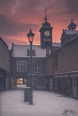 St Albans Row (►►M J Turner Photography ◄◄) Tags: stalbansrow sunrise morning dawn carlisle cityofcarlisle cumbria england uk unitedkingdom winter snow urban beastfromtheeast20 beastfromtheeast2 oldtownhall