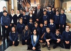 With first group of King's Meadow pupils at Parliament
