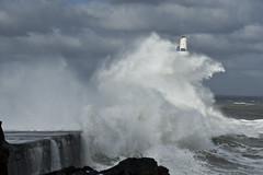 Ocean Fury (steve_whitmarsh) Tags: aberdeen scotland storm water sea ocean splash harbour wall waves