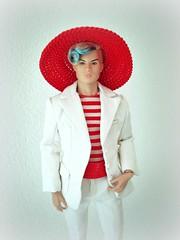 Red hat (Deejay Bafaroy) Tags: fashion royalty fr doll puppe homme male tate integrity toys it industry tatetanaka stylelab wonderland fairytale convention hat hut blue blau porträt portrait red rot white weiss stripes streifen striped gestreift