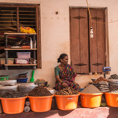 spices for sale (gilliesavo. Catching up :)) Tags: streetscene gokarna spices street india miseenscene colour light moment capture