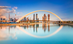 _MG_3309 - Golden hour idyll in Dubai (AlexDROP) Tags: 2018 dubai uae travel architecture longexposure skyscraper color city wideangle urban scape canon6d ef16354lis best iconic famous mustsee picturesque postcard goldenhour