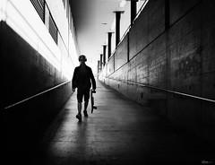Safety first (René Mollet) Tags: street streetphotography shadow silhouette streetart streetphotographiebw station schwarzweiss skateboard safe safety urban urbanstreet underground renémollet
