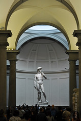 David (life of nomad) Tags: renaissance italy italia florence firenze fiorenza europe europa european marvelous magnificent marble sculpture sculptures marbles wonderful tall big 17 feet 5 17m height heritage legacy biblical david recognizable famous tourist tourists museum museums popular indoor inside old columns arches arch column wojciech lelek wojciechlelek travel travels traveling