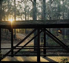 Sunset with Lanterns on 110 Film (Neal3K) Tags: 110film georgia henrycountyga lomotiger200film pentaxauto110 lantern kerosenelantern