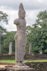 Statue (good.fisherman) Tags: landmark tribute sightseeing historical sightseer tourist destination visiting sri lanka temple ancient buriram wat phra that hariphunchai banteay srei archaeological site kdei ta som goa gajah gopuram 9th century mahathat bangkok