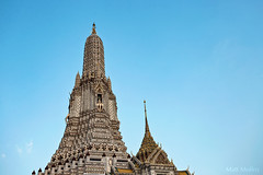 Top of the Temple (Matt Molloy) Tags: mattmolloy photography buddhist temple prang spires historic landmark buildings architecture ornate detailed porcelain tridentofshiva templeofdawn watarunratchawararam thonburi bangkokyai bangkok thailand lovelife