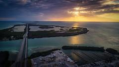 ...This evenings sunset overlooking Ohio Key and Bahia Honda Key. (JesseMichaelMarshall) Tags: island drone dronephotography phantom4pro p4p afterirma floridakeys sunsets sunset