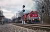 RJCC 3944 - Flanagan, KY (Wheelnrail) Tags: csx rjcc rj corman sd402 locomotive red alcan aluminum flanagan kentucky cc subdivision signal signals ky 3944 rails railroad railway loco emd smoke ln
