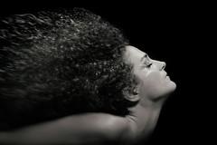 10-day portrait challenge: 9. Myrto (Tilemachos Papadopoulos) Tags: qoq eyes mono monochrome portrait people hair studio blackandwhite black dark mirrorless