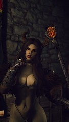 Eitra | Shaman (noirslate) Tags: skyrim orc girl female video game sexy screenshot 3d 4k 2k wallpaper portrait landscape nude nsfw