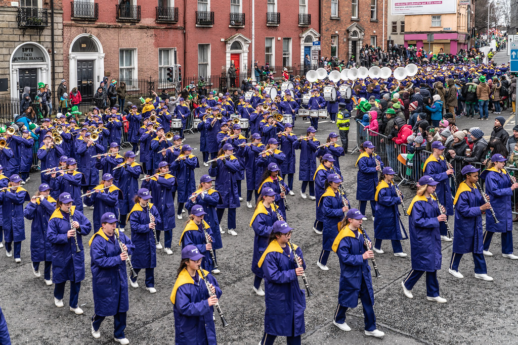 Jackson High School - Purple Army Marching Band [Dublin Patricks Day Parade 2018]-137632