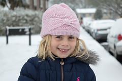 Snow Day Portrait (karenmarquick) Tags: snow child girl portrait outdoor march christchurch dorset