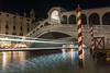 Rialto Bridge At Night (A Guy Taking Pictures) Tags: long exposure sony a6000 night boat italy venice light trail reflection river sea canel rialto bridge waves calm seconds