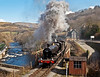 3802 at berwyn (midcheshireman) Tags: steam train locomotive llangollen llangollenrailway wales 38xx 3802 river dee bridge