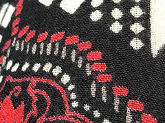 Material Patterns (soniaadammurray - On & Off) Tags: iphone material pattern red blackwhite macro macromondays