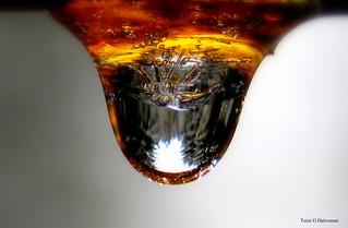 A frozen drop in fire!