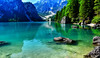 Verde Natura (giannipiras555) Tags: braies lago alpino verde natura riflessi montagne dolomiti rocce alberi panorama landscape trentino