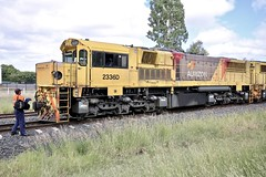 Aurizon Coal Train 2336D full of coal bound for Brisbane Port. (Lance # Australian photographer) Tags: coaltrain chinchilla 4413 queensland railroad train locomotive aurizon outdoor blocklimit traindriver engineer 2336d