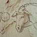 PRIMATICE - Triptyque, Trois Hommes, un Mulet et un Âne auprès d'un Chargement (drawing, dessin, disegno-Louvre INV8574) - Detail 08