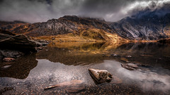 No sunshine ....but always warms my heart . X (Einir Wyn Leigh) Tags: landscape love mountain water lake wales snowdonia home easter rugged april light cloud weather outside