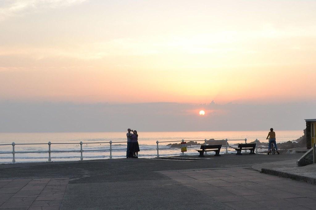Sundown Over Crooklets Beach, Bude.  Nikon D3100. DSC_098O.