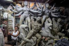 Kolkata, India (gstads) Tags: kolkata calcutta india indian bengal bengali westbengal kumartuli hindu hinduism statue statues workshop artist idol idols durgapuja artisan durga