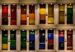 Paternoster bunt (pyrolim) Tags: kiellandeshauspaternoster aufzug farben regenbogen collage